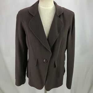 St John Women's Brown Blazer Jacket 10